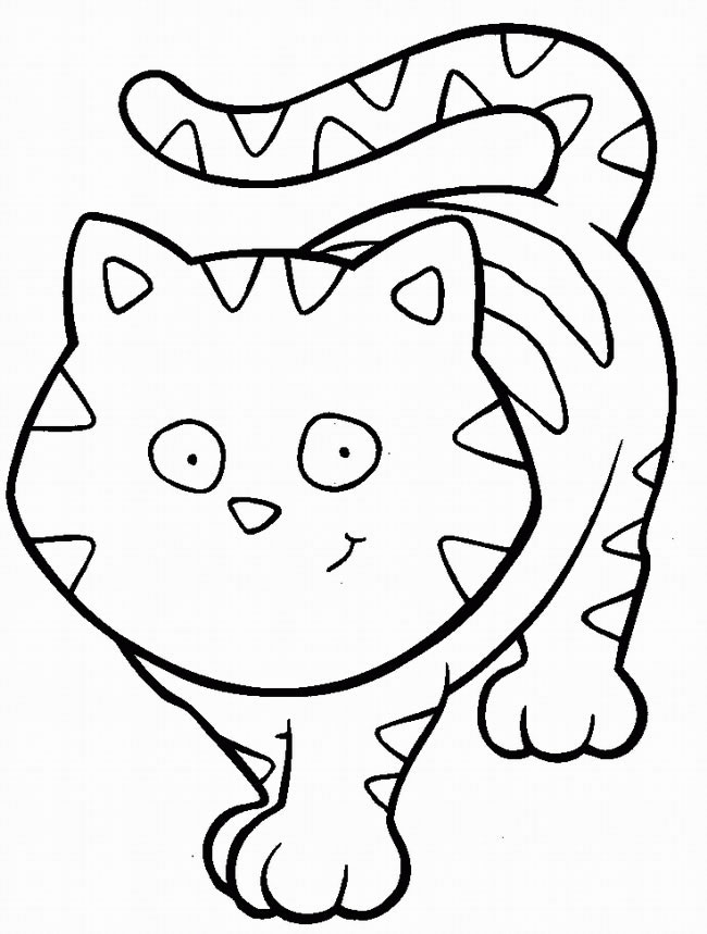 Cat Coloring Pages to Print Animals